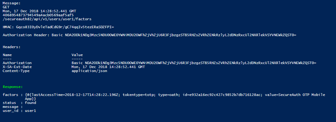 How to generate an Authorization header for the SecureAuth